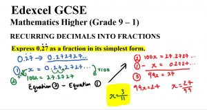 Express 0.27 as a fraction in its simplest form